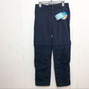 Columbia Straight Leg Convertible Pants Navy